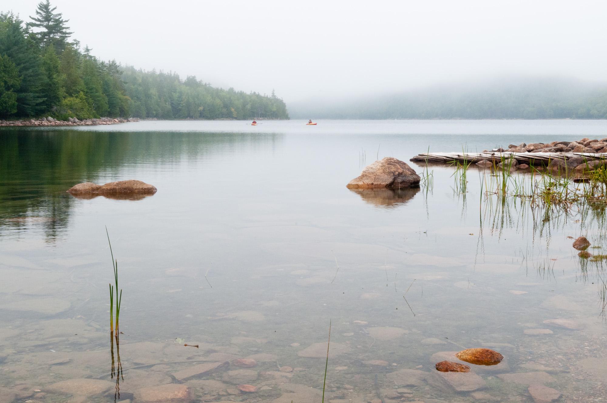 Kayaking Jordan Pond