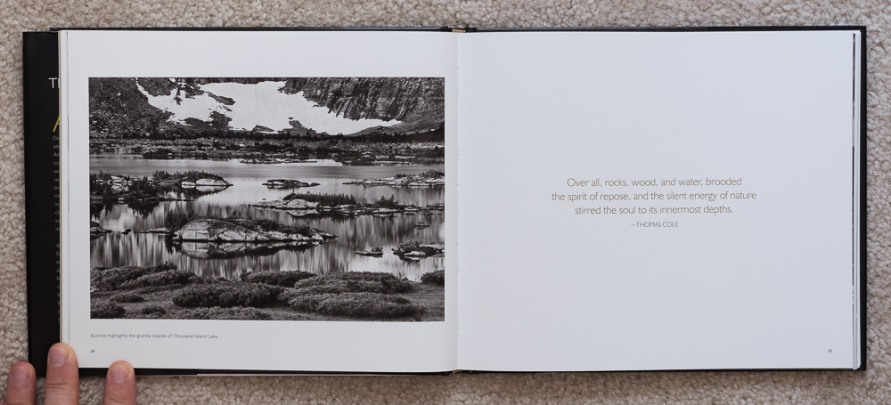 The Ansel Adams Wilderness  , pages 24-25