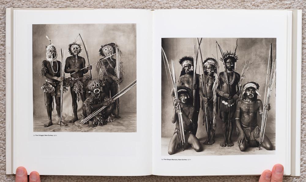 Irvin Penn: Platinum Prints. P late 53: Four Unggai, New Guinea, 1970. Plate 54: Five Okapa Warriors, New Guinea, 1970