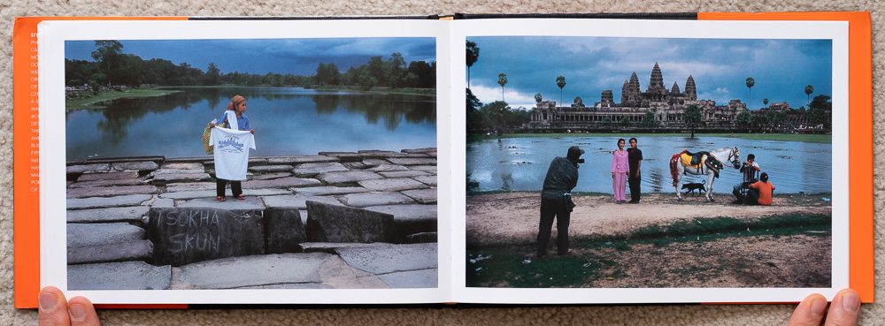 Pages 108-109. Photos of people, vendors and tourists.