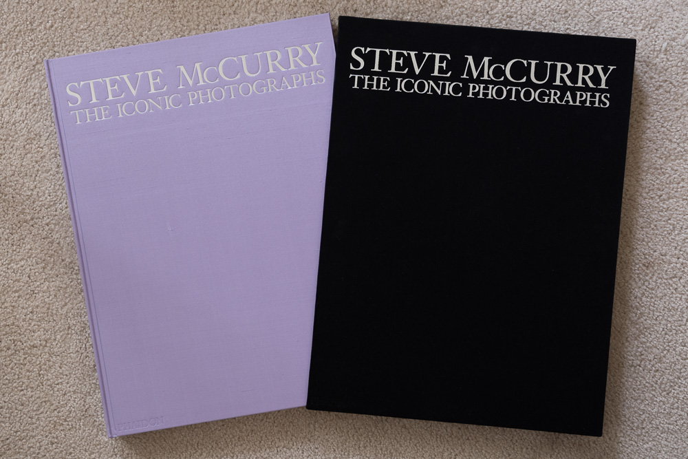Limited edition of  Steve McCurry: The Iconic Photographs , along with its slipcase.