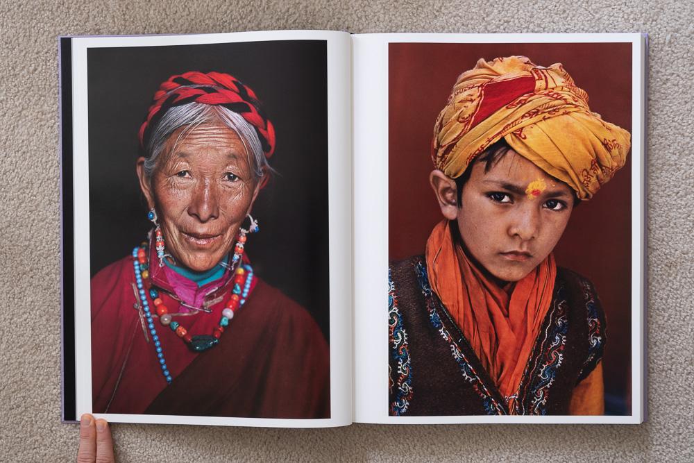 Steve McCurry: The Iconic Photographs . Woman With Coral Earrings, Lhasa, Tibet, 2000. Pilgrim at Kumbh Mela, Haridwar, India, 1998.