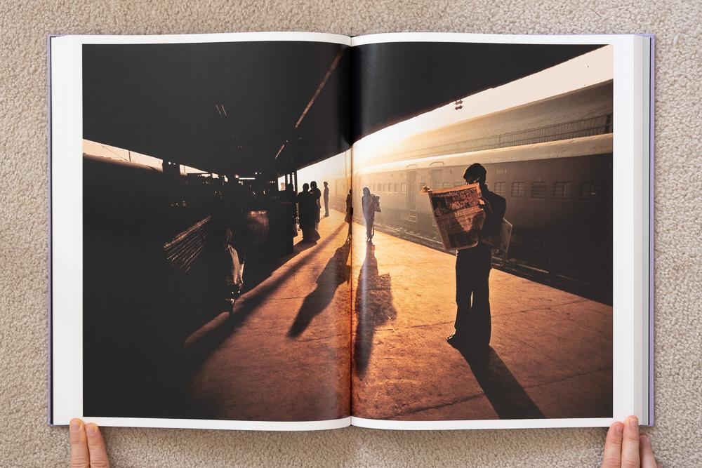 Steve McCurry: The Iconic Photographs . Train Station Platform, Old Delhi, India, 1983.