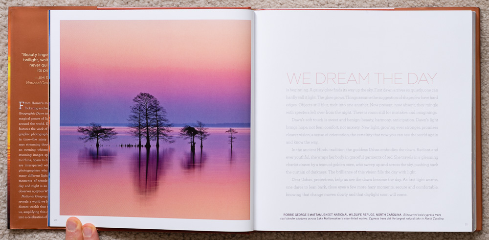 National Geographic Dawn to Dark . Robbie George. Mattamuskeet National Wildlife Refuge, North Carolina. Pages 20-21