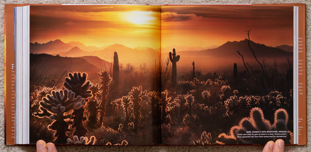 National Geographic Dawn to Dark . Marc Adamus. Kofa Mountains, Arizona. Pages 298-299
