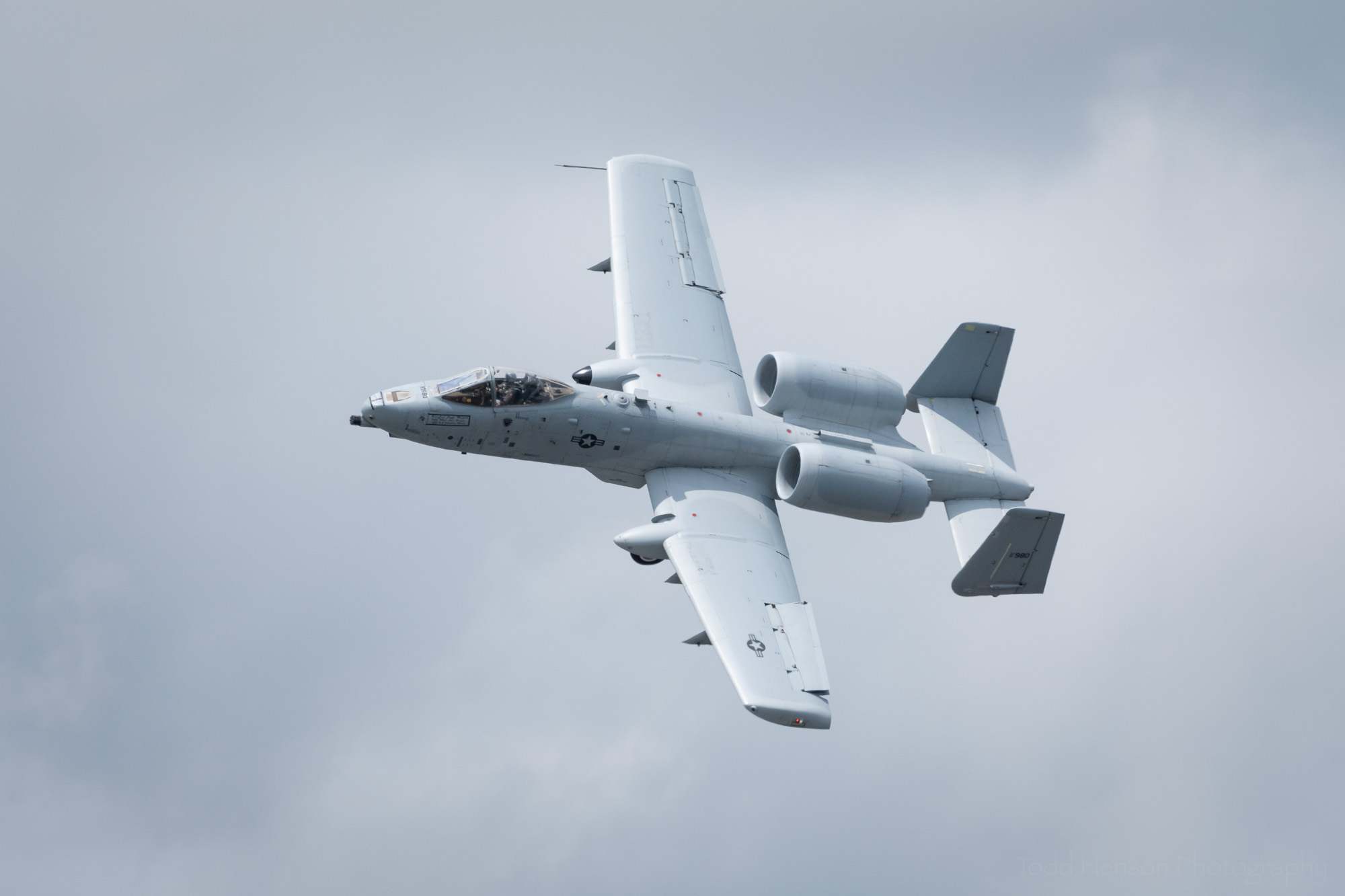 USAF A-10 Thunderbolt performing a flyby.