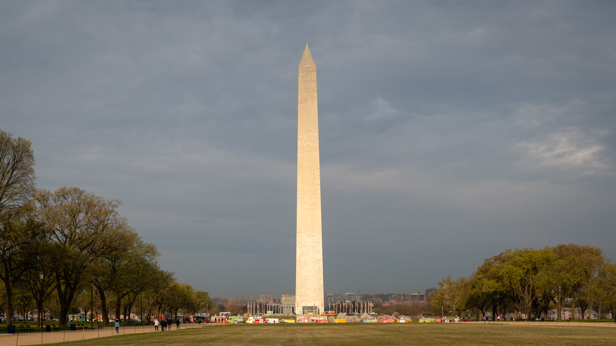 3 Image stitched panorama of the Washington Monument.
