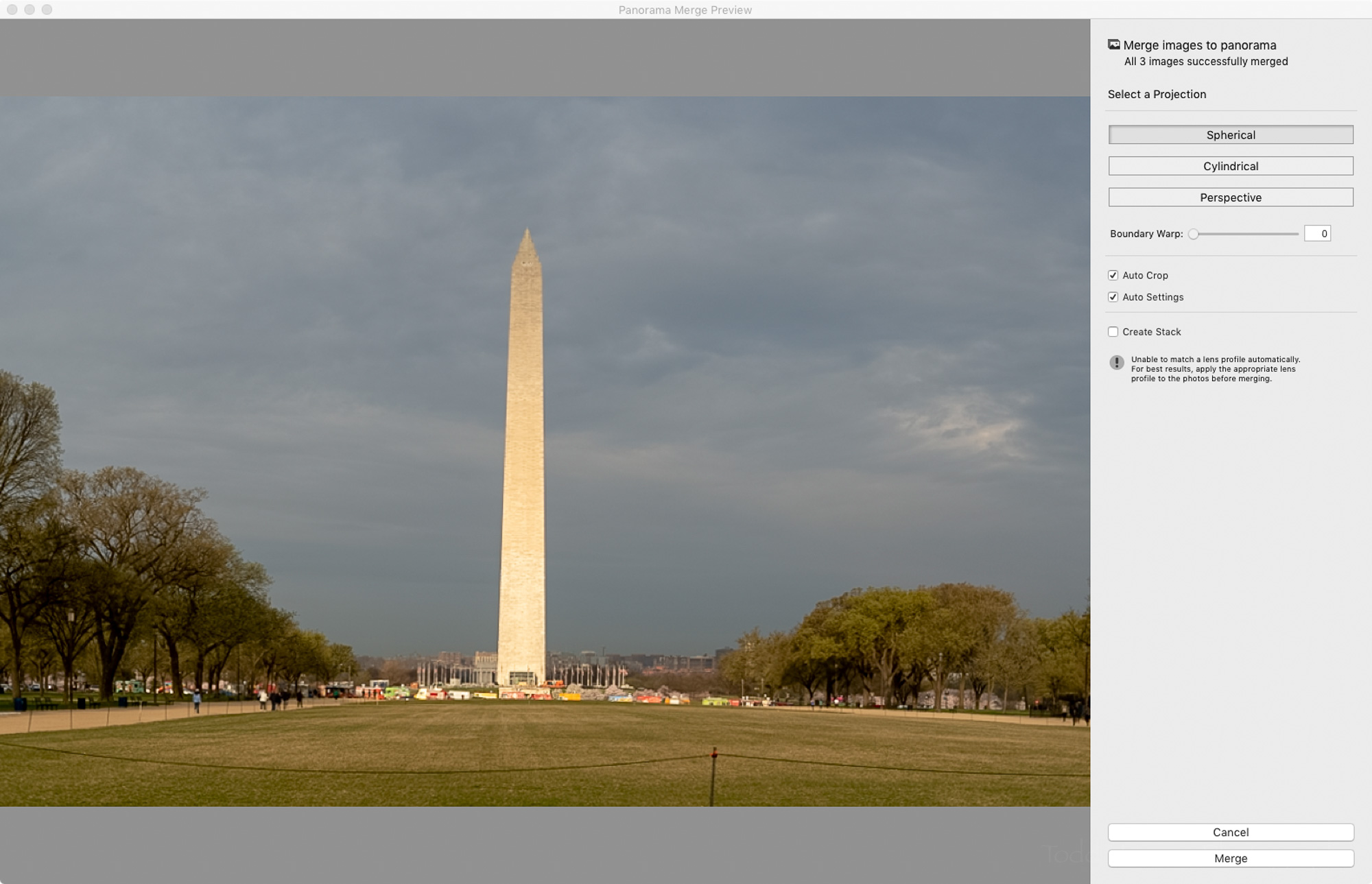 Lightroom's Auto Crop option.