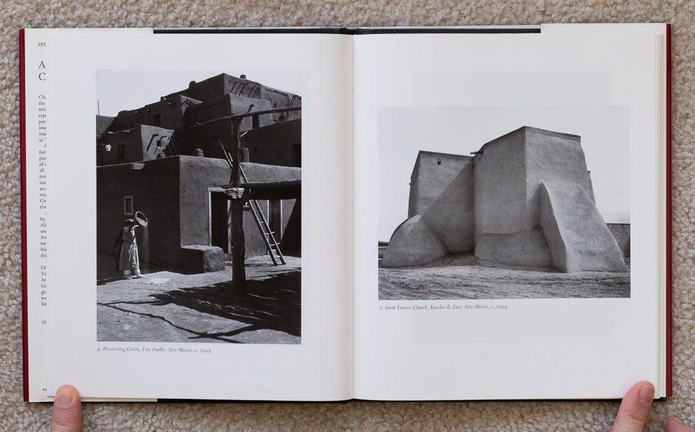 Ansel Adams: Classic Images , plates 4-5: Winnowing Grains, Taos Pueblo, New Mexico, 1929 & Saint Francis Church, Rancos de Taos, New Mexico, 1929