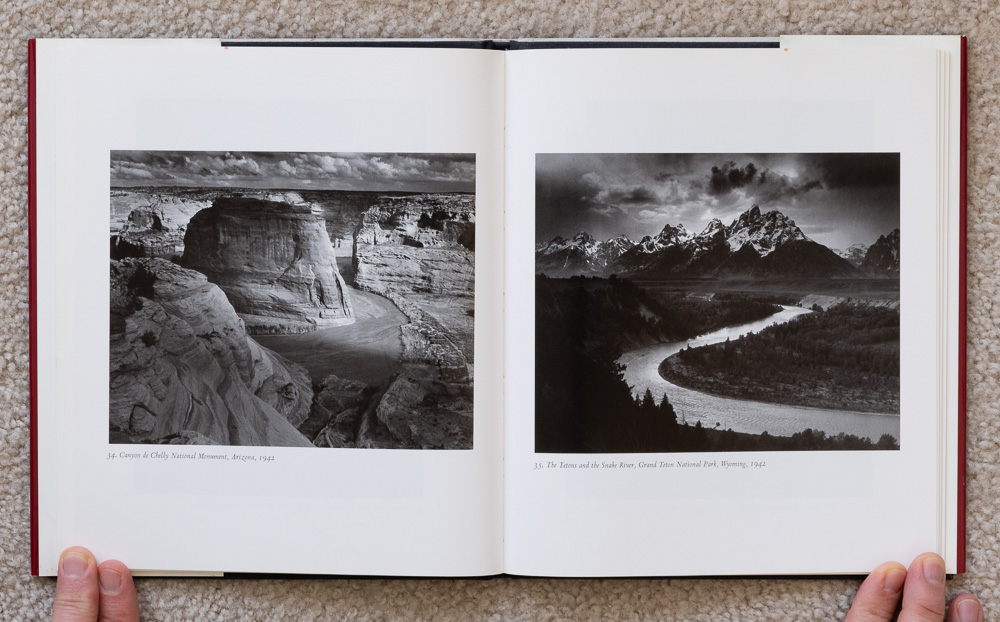 Ansel Adams: Classic Images , plates 34-35: Canyon de Chelly National Monument, Arizona, 1942 & The Tetons and the Snake River, Grand Teton National Park, Wyoming, 1942