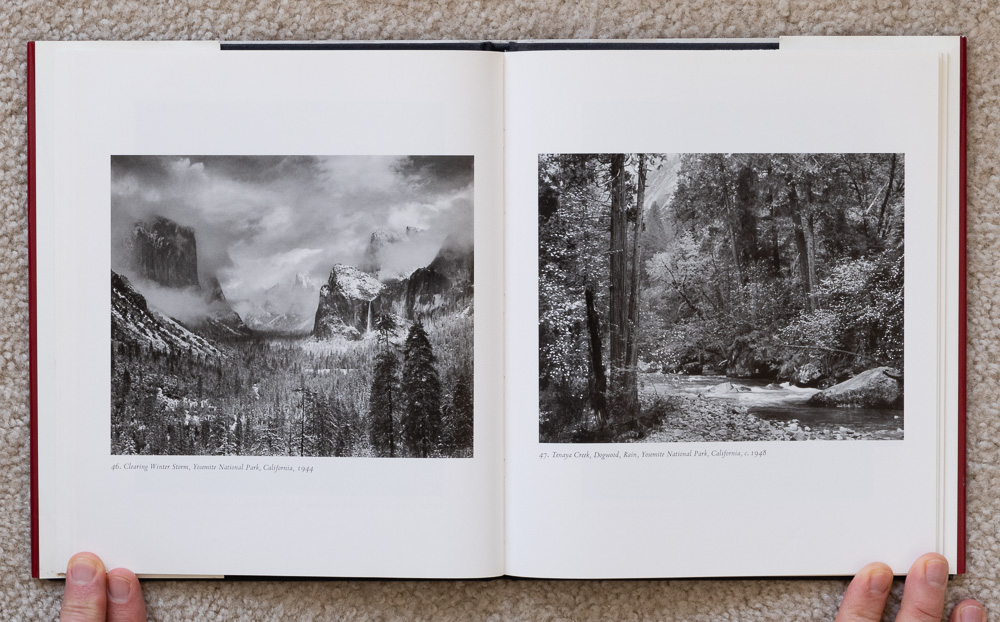 Ansel Adams: Classic Images , plates 46-47: Clearing Winter Storm, Yosemite National Park, California, 1944 & Tenaya Creek, Dogwood, Rain, Yosemite National Park, California, 1948