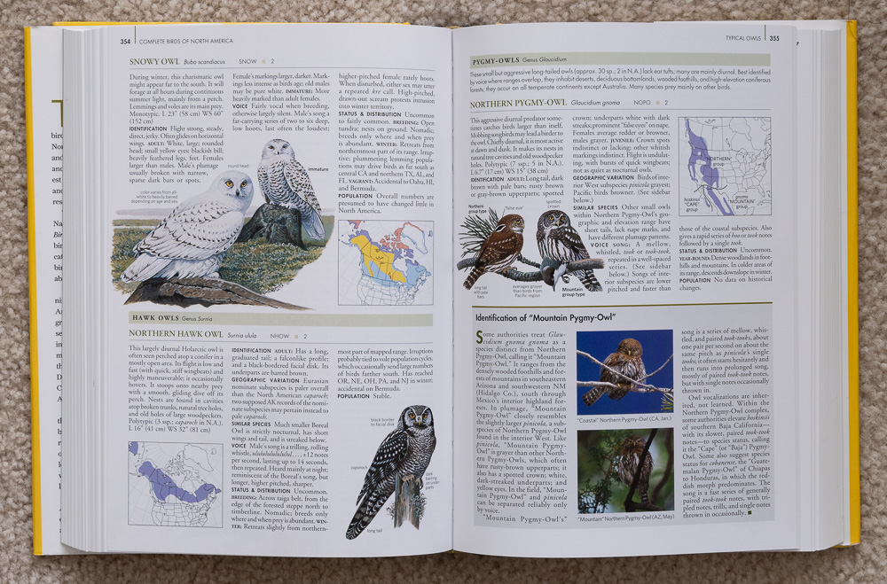 Pages 354-355 of  National Geographic Complete Birds of North America