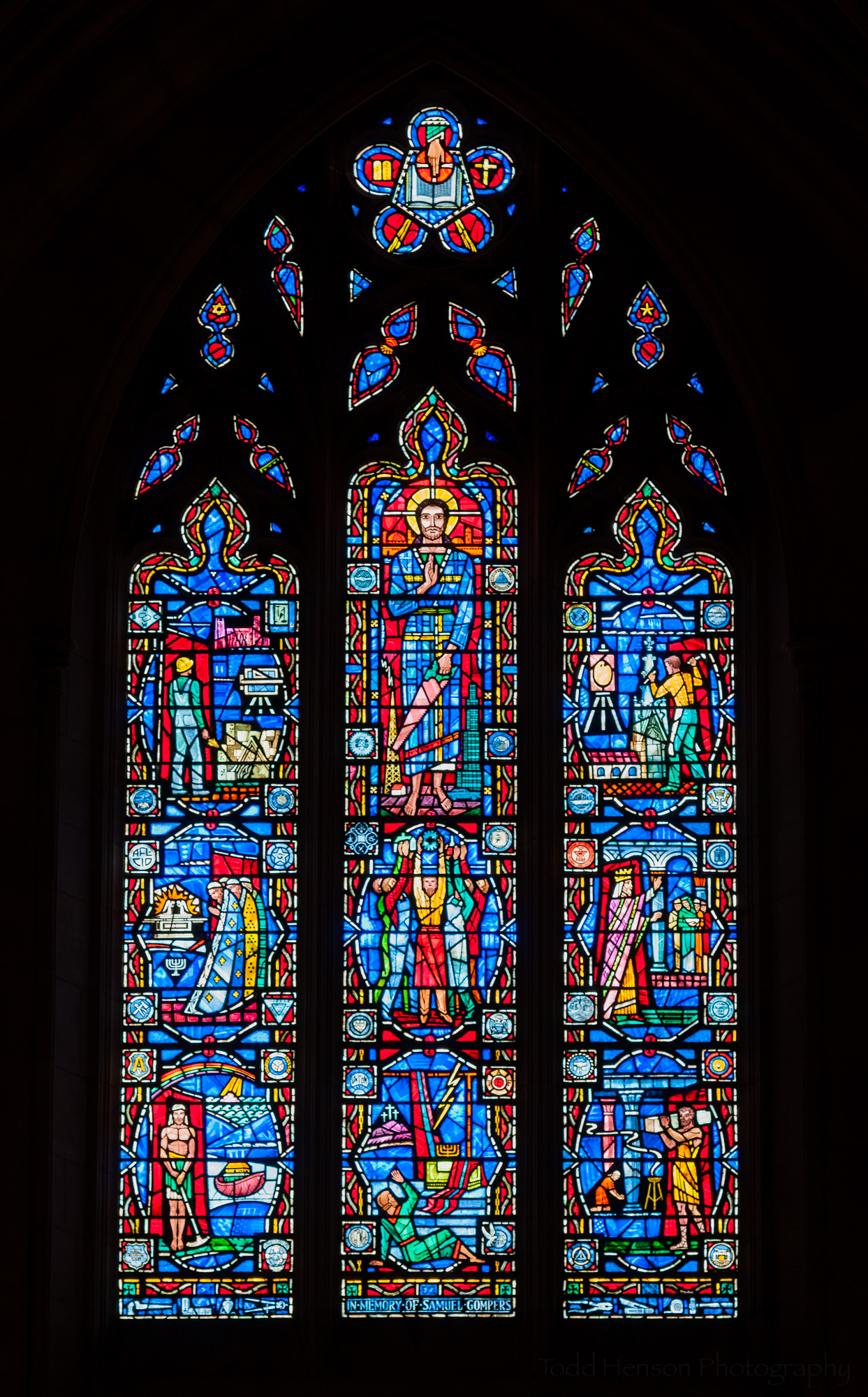 Labor Window, a stained glass window at Washington National Cathedral
