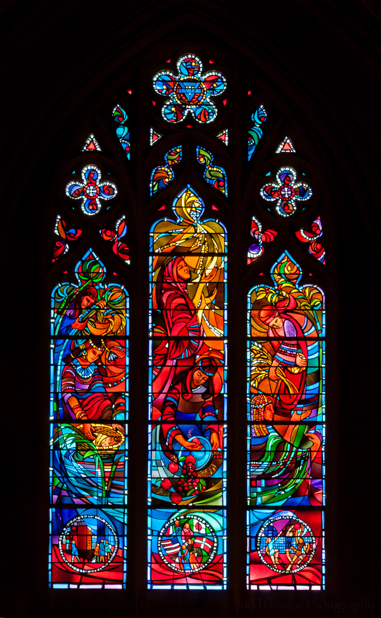 YWCA Window, a stained glass window at Washington National Cathedral