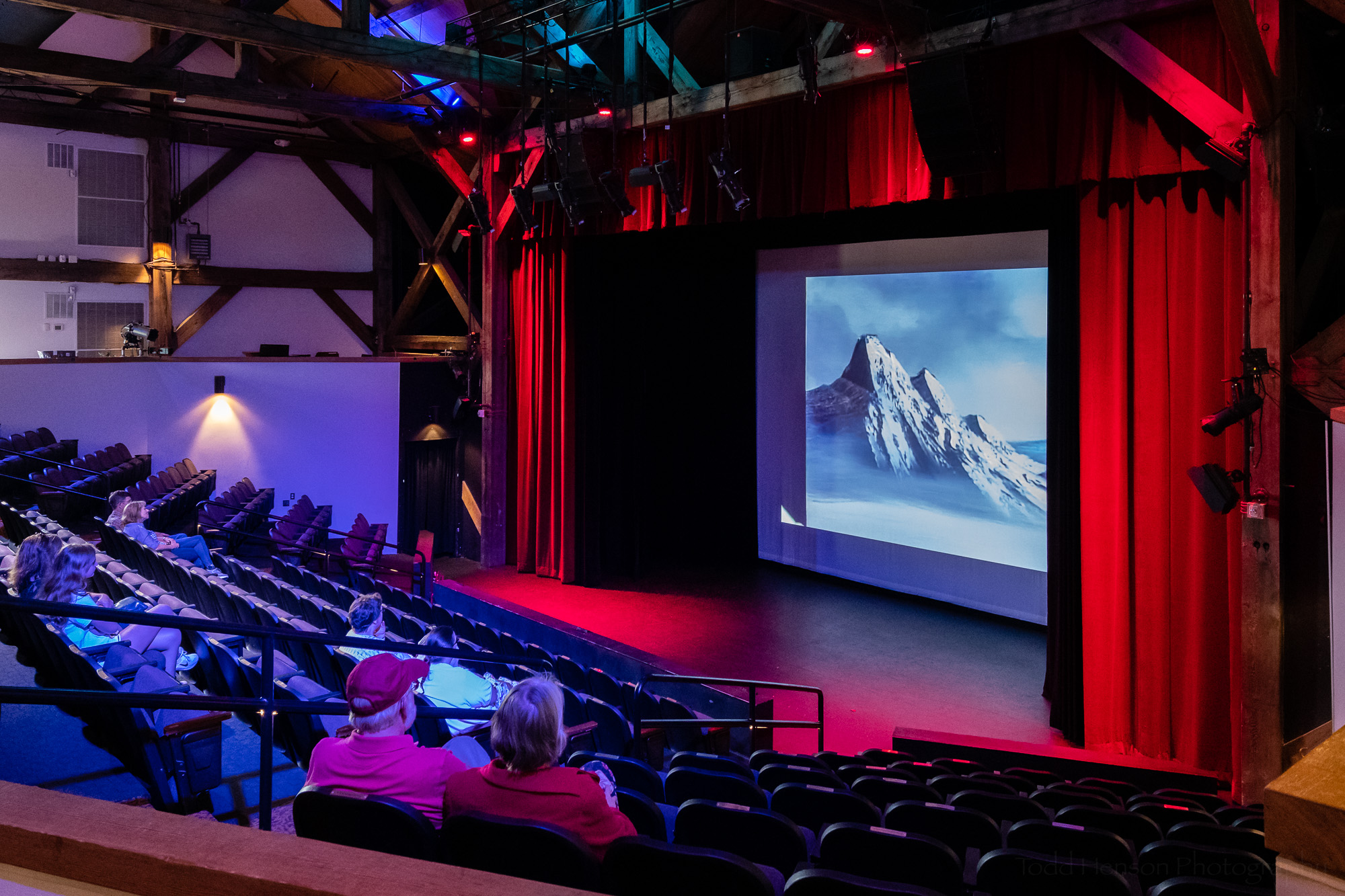 The theater in the Franklin Park Arts Center was showing a documentary about Bob Ross