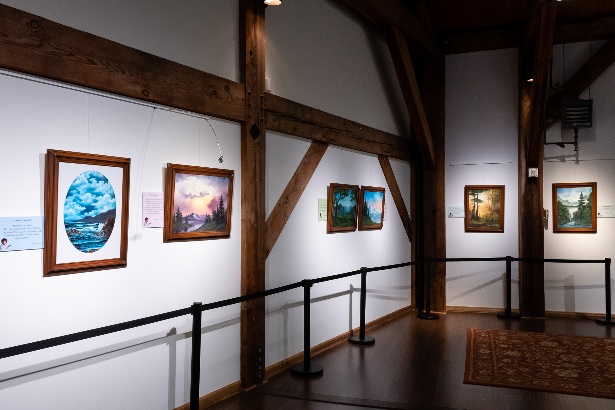 The Franklin Park Arts Center was a great location for a Bob Ross exhibit