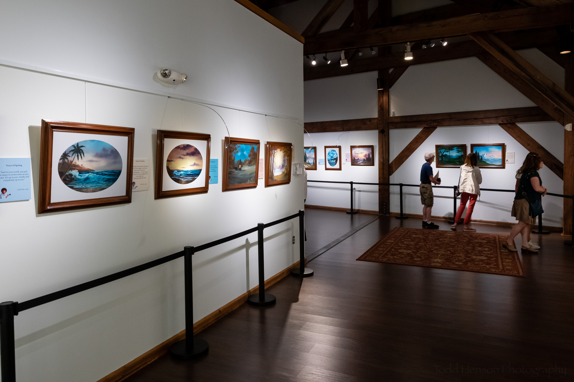 The Franklin Park Performing & Visual Arts Center hosted  Happy Accidents , an exhibit of original Bob Ross paintings.