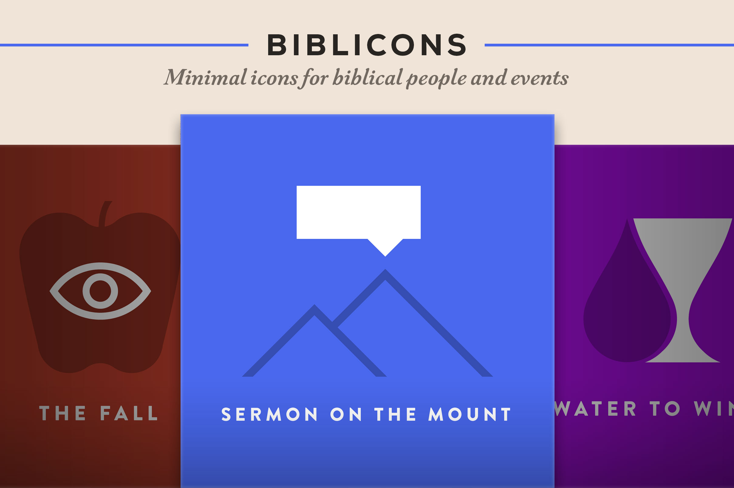 Minimal icons for biblical people and events