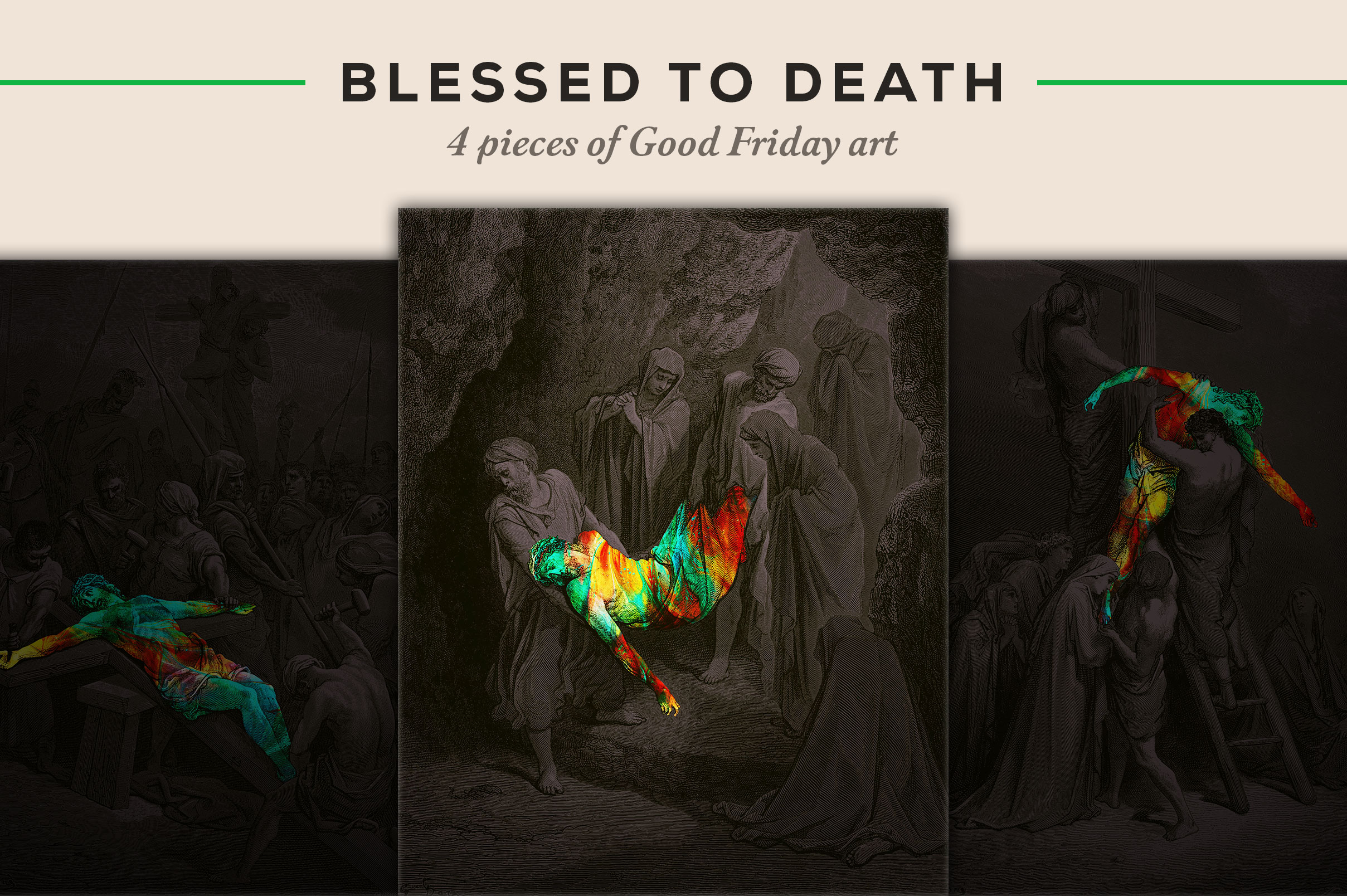 4 pieces of Good Friday art