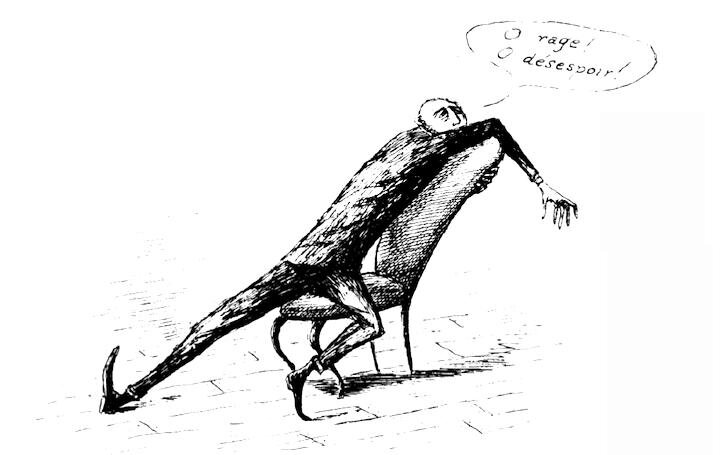 Illustration by Edward Gorey. Oh, the freedom to dream!