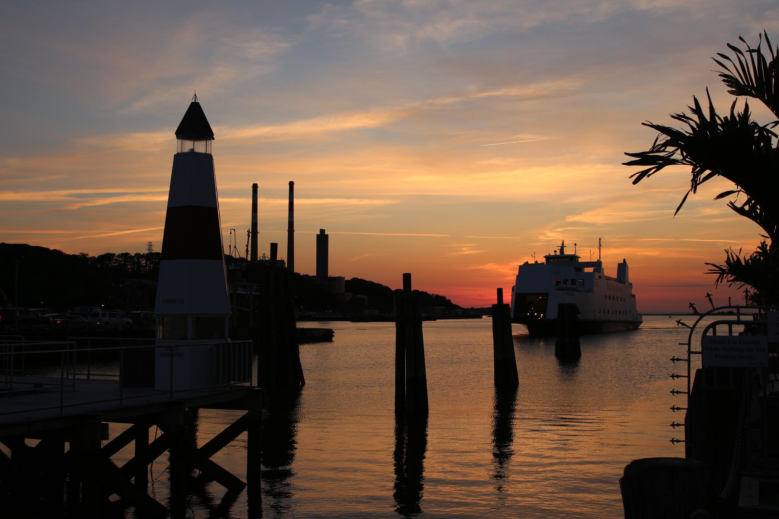 The Bridgeport - Port Jefferson ferry arriving from Connecticut.
