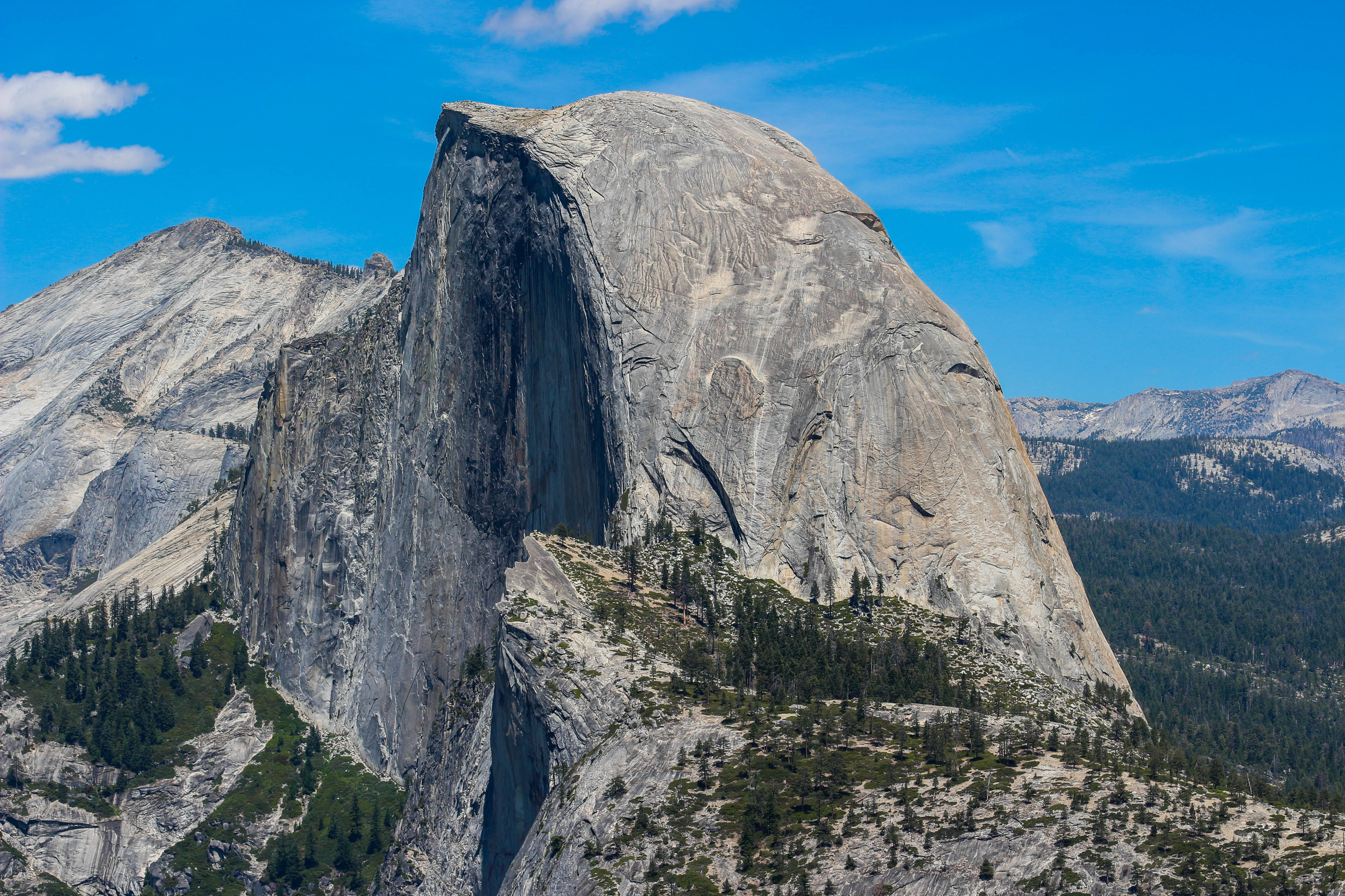 The infamous Half Dome of Yosemite National Park