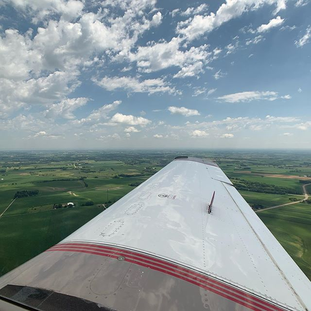 Got to hitch a ride for an arrival (and departure) at Oshkosh, my first time. Thanks @flyingcheesehead!! Beautiful Mooney too, which I've always had a soft spot for.