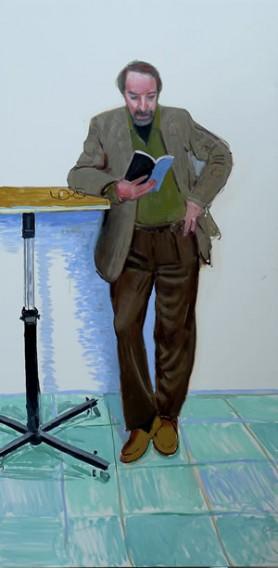 Portrait of Ren Weschler by David Hockney
