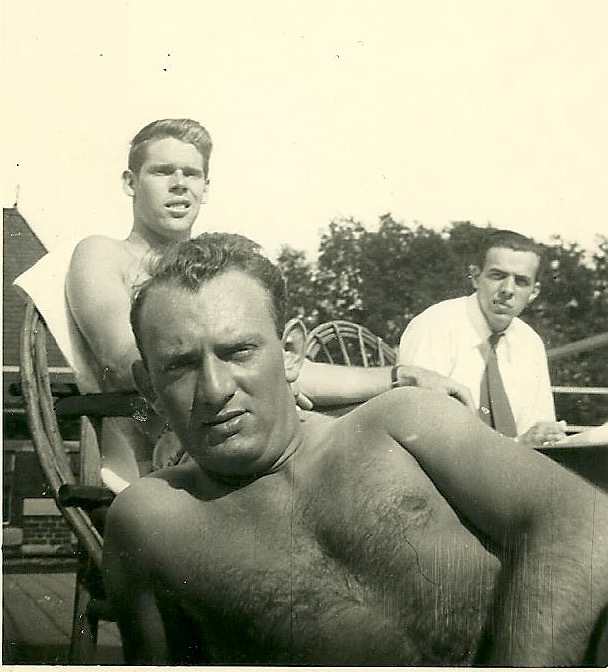 My dad, in the foreground.