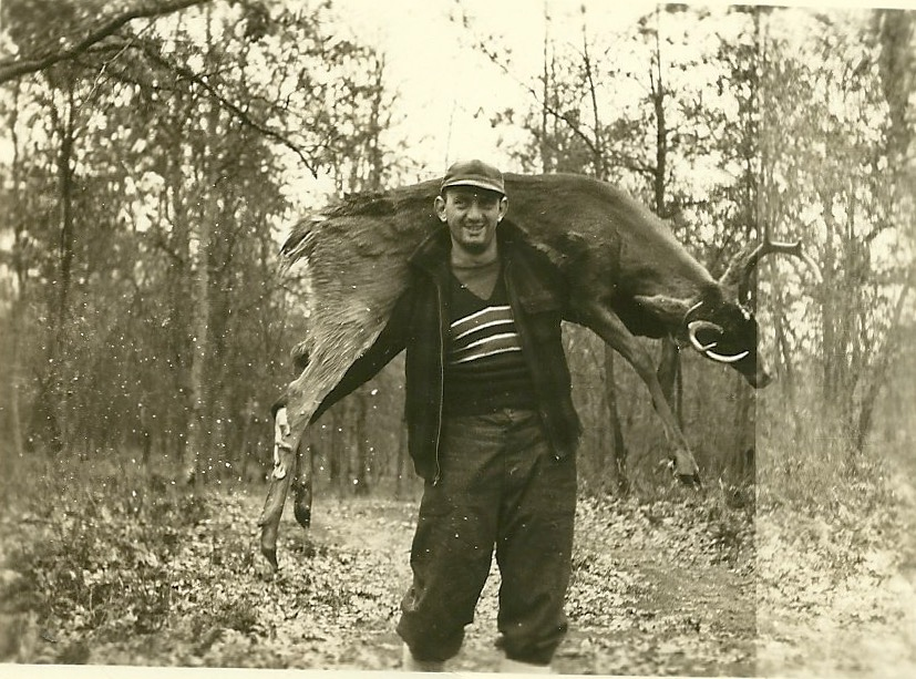From a Michigan deer hunt, around the time he was an art student.
