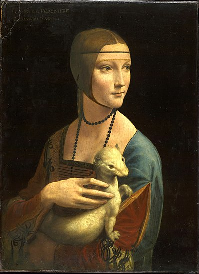 Leonardo da Vinci's  Lady with an Ermine , which Philip Pullman has said  inspired his creation  of dæmons in the  His Dark Materials  trilogy.