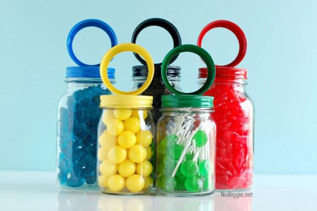 Olympic Rings Candy Jars: