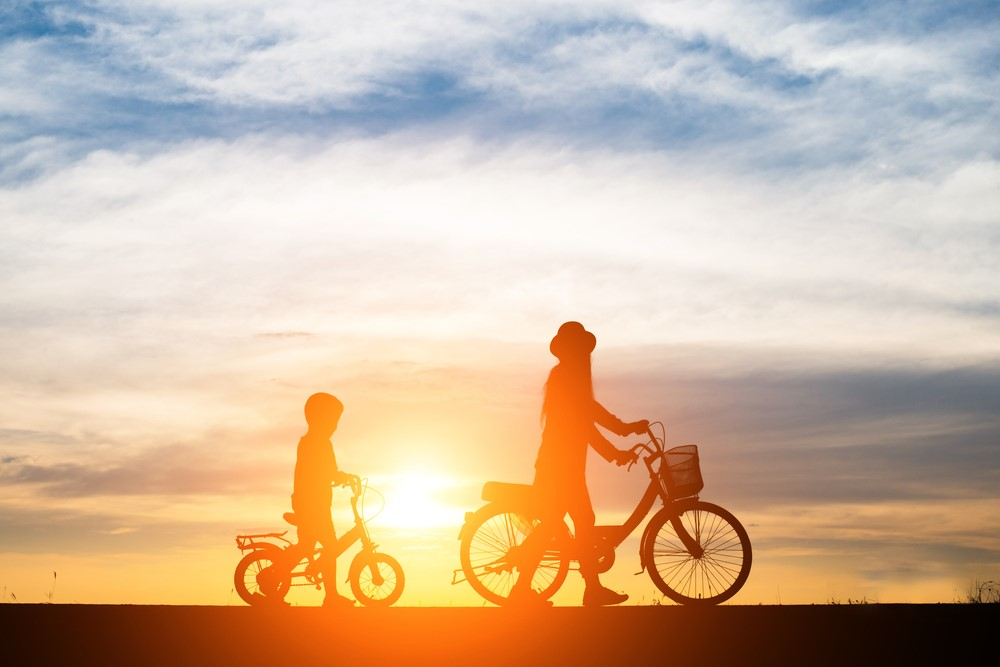 Bicycle and baby