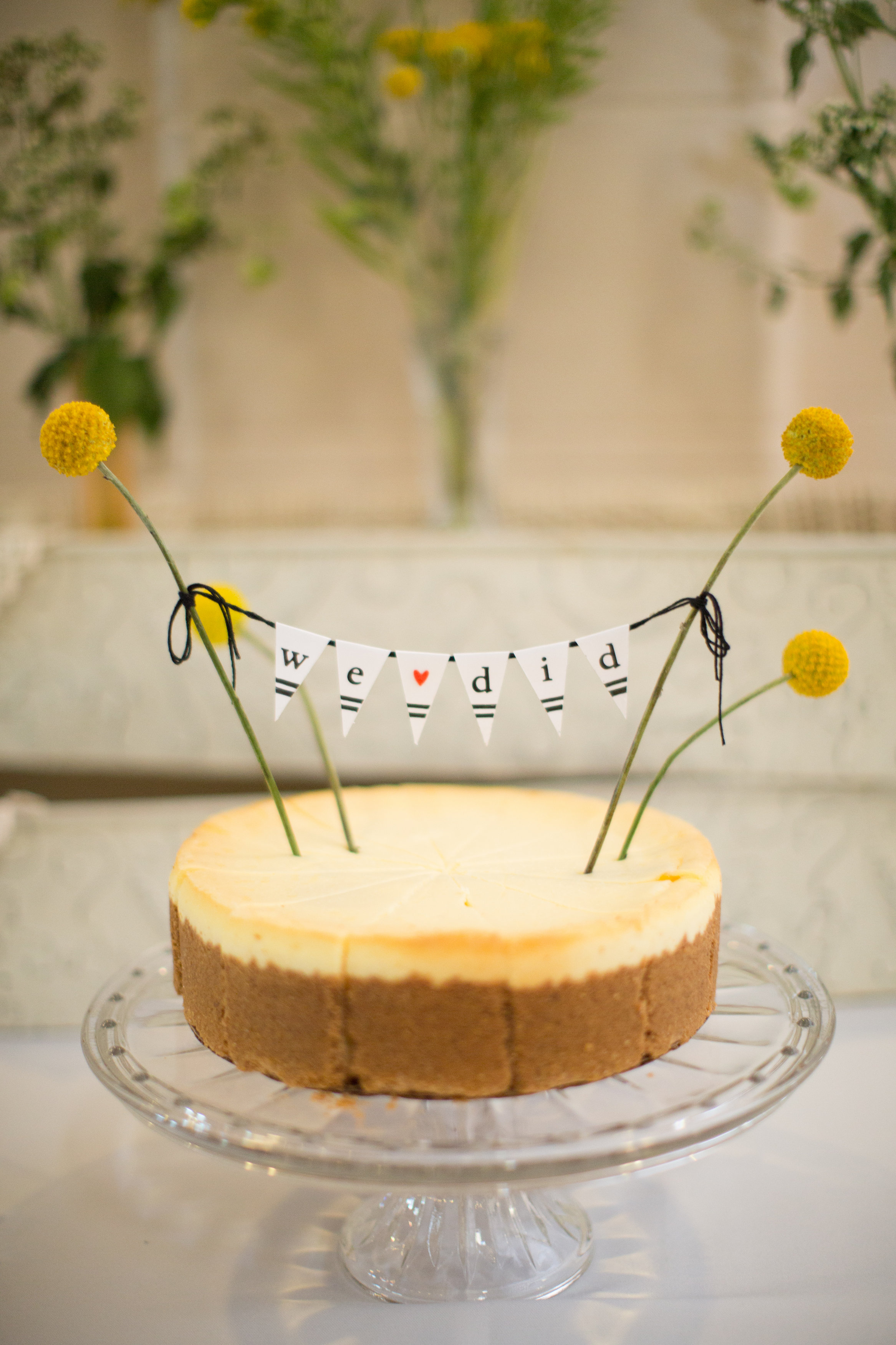 Did you know this wedding cheesecake is from Sam's Club? Photo by  Val Marlene