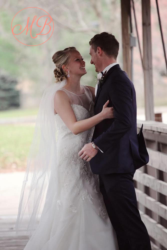 Kari and Andrew on their wedding day! <3 <3 <3