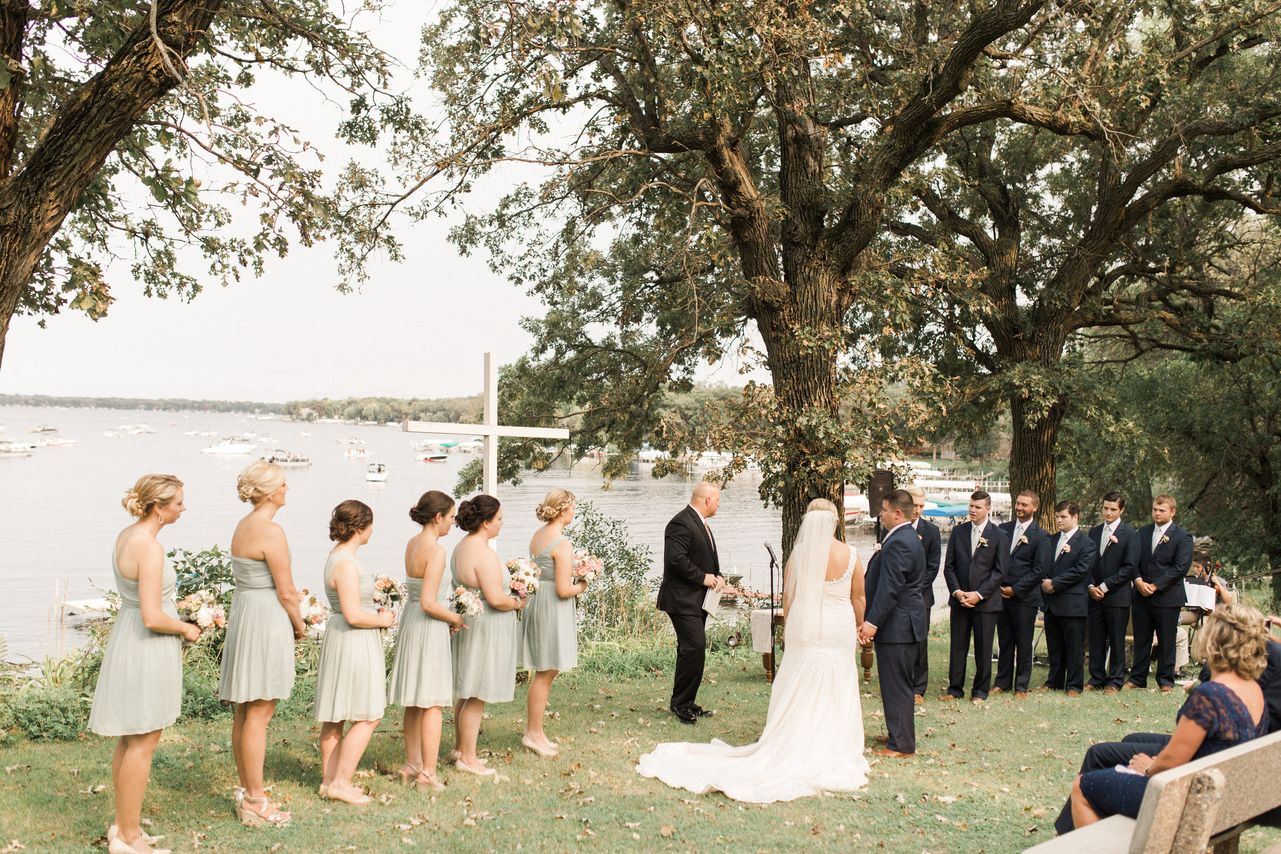 lakeside-ceremony-okoboji-iowa-bridal-party