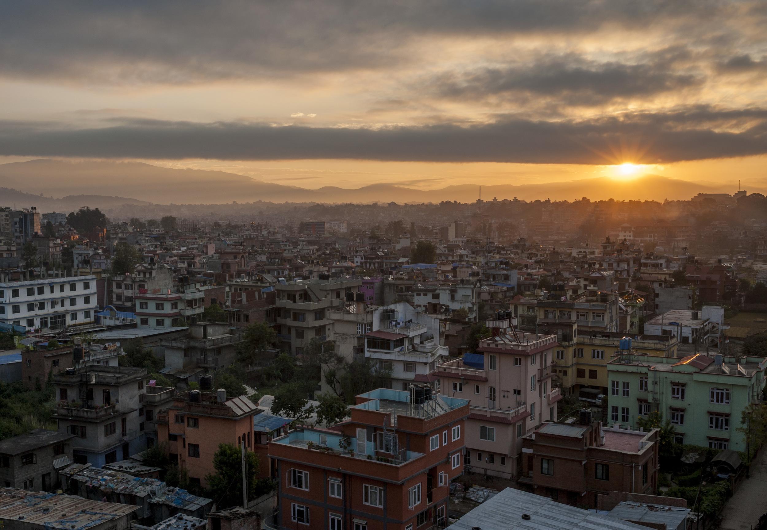 Sunrise over Kathmandu