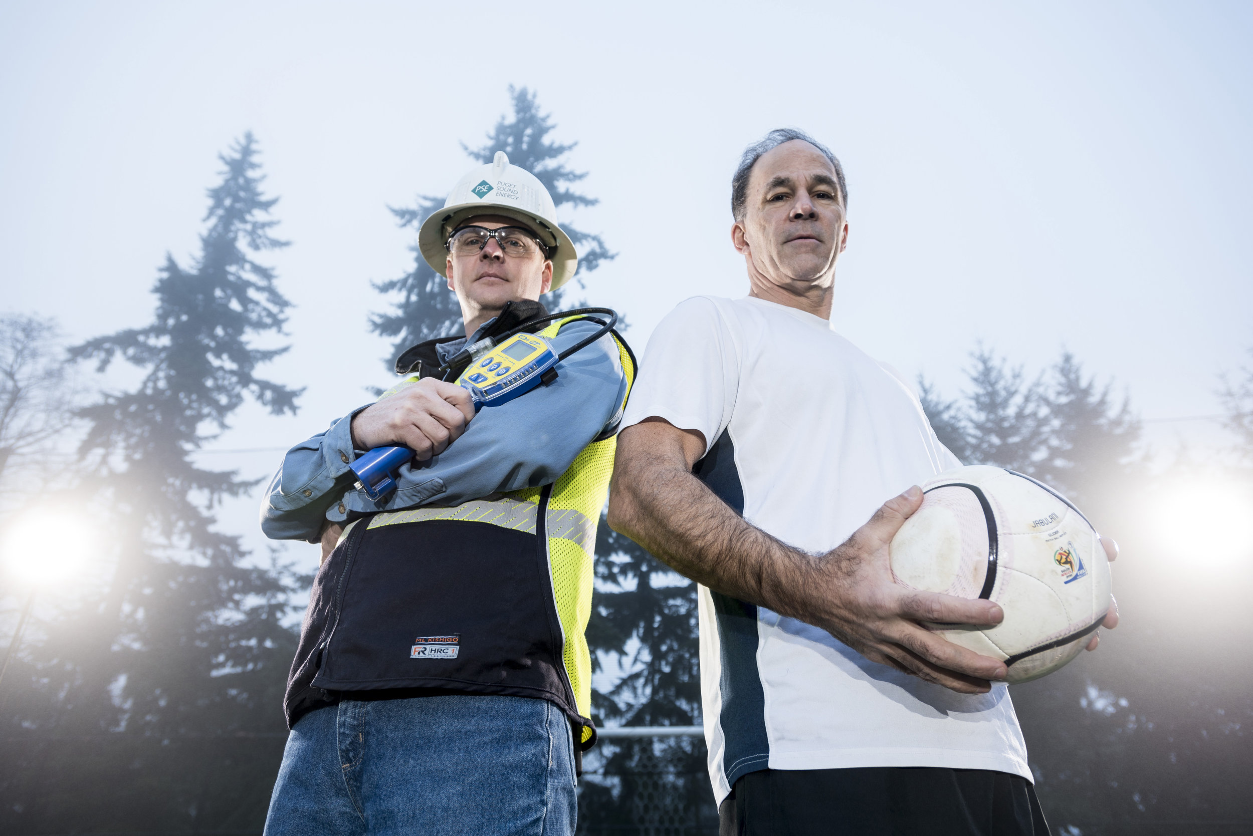 Taken for an internal campaign on industrial athletes.  Photo courtesy of and copyright Puget Sound Energy.