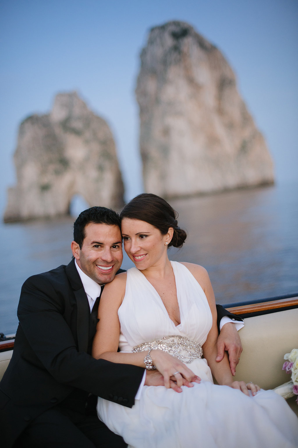 A sunset cruise around the island of Capri…