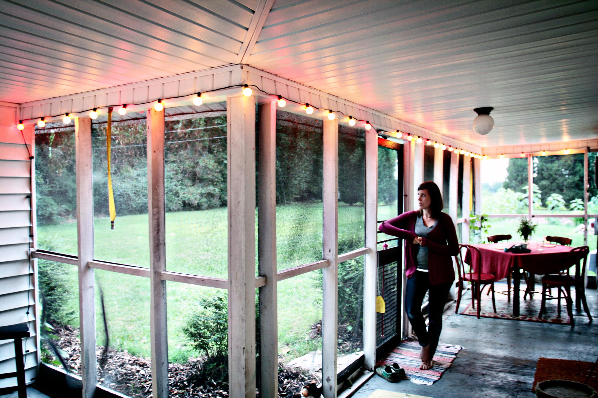 farmhouse porch in trinity, nc