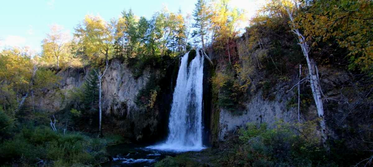 Spearfish Falls. One of the most popular hikes is located just 10 minutes from Wickiup behind Latchstring Restaurant.