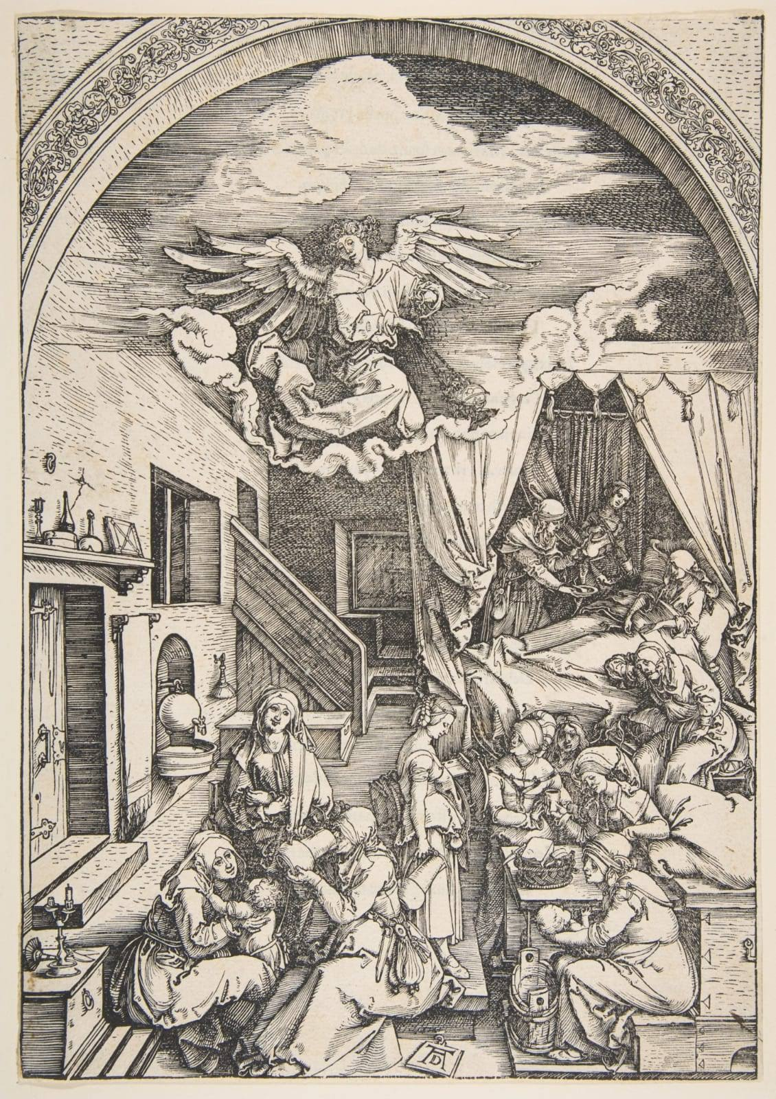 Albrecht Durer, The Birth of the Virgin, from The Life of the Virgin,ca. 1503