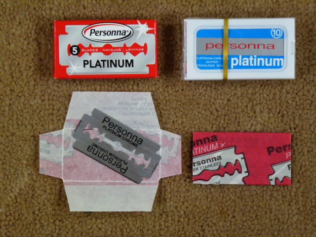 """Personna """"Reds"""" - 5 pack box and 10 pack dispenser"""