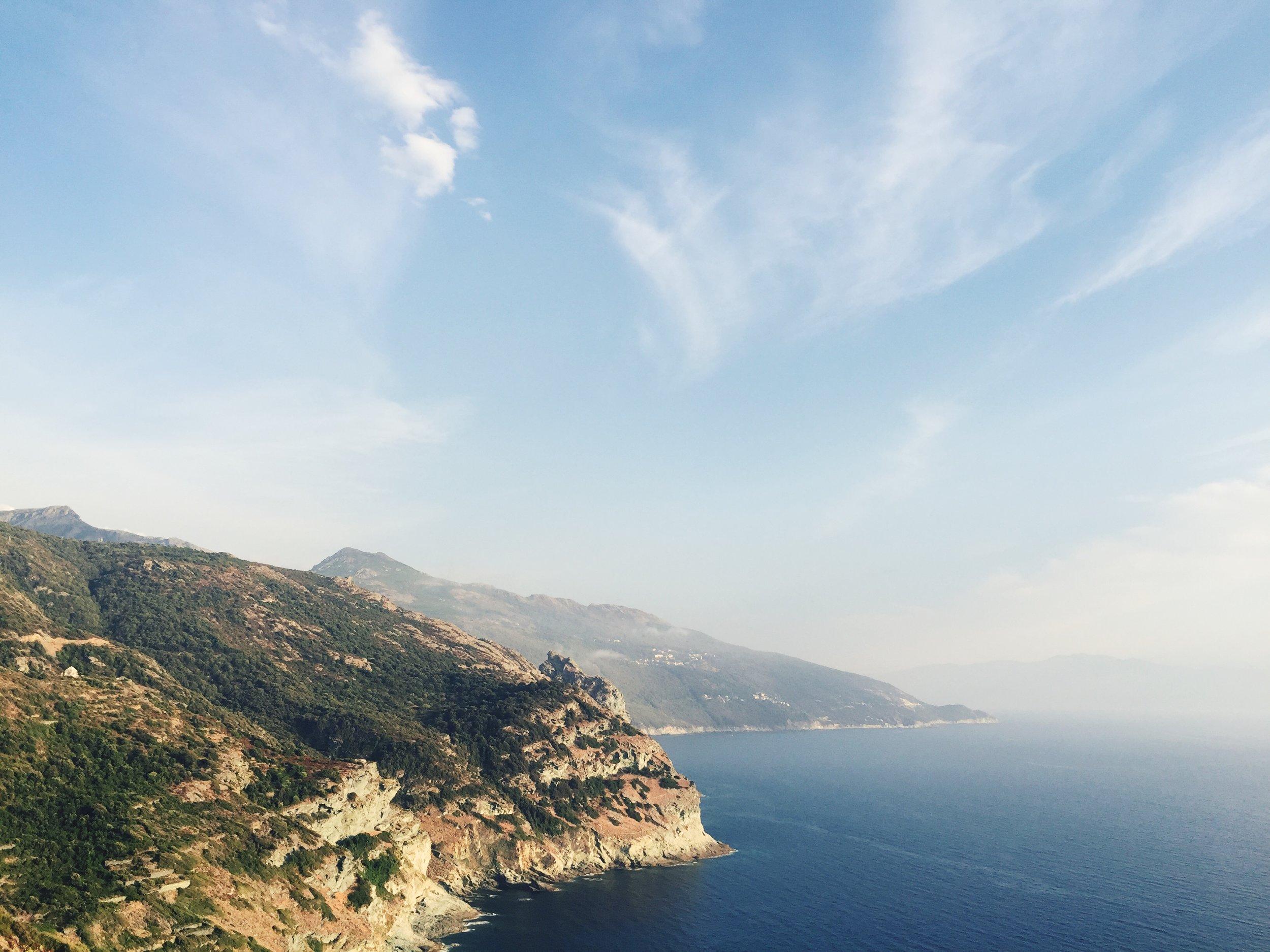 La journée s'achève - sur la Côte Ouest du Cap Corse