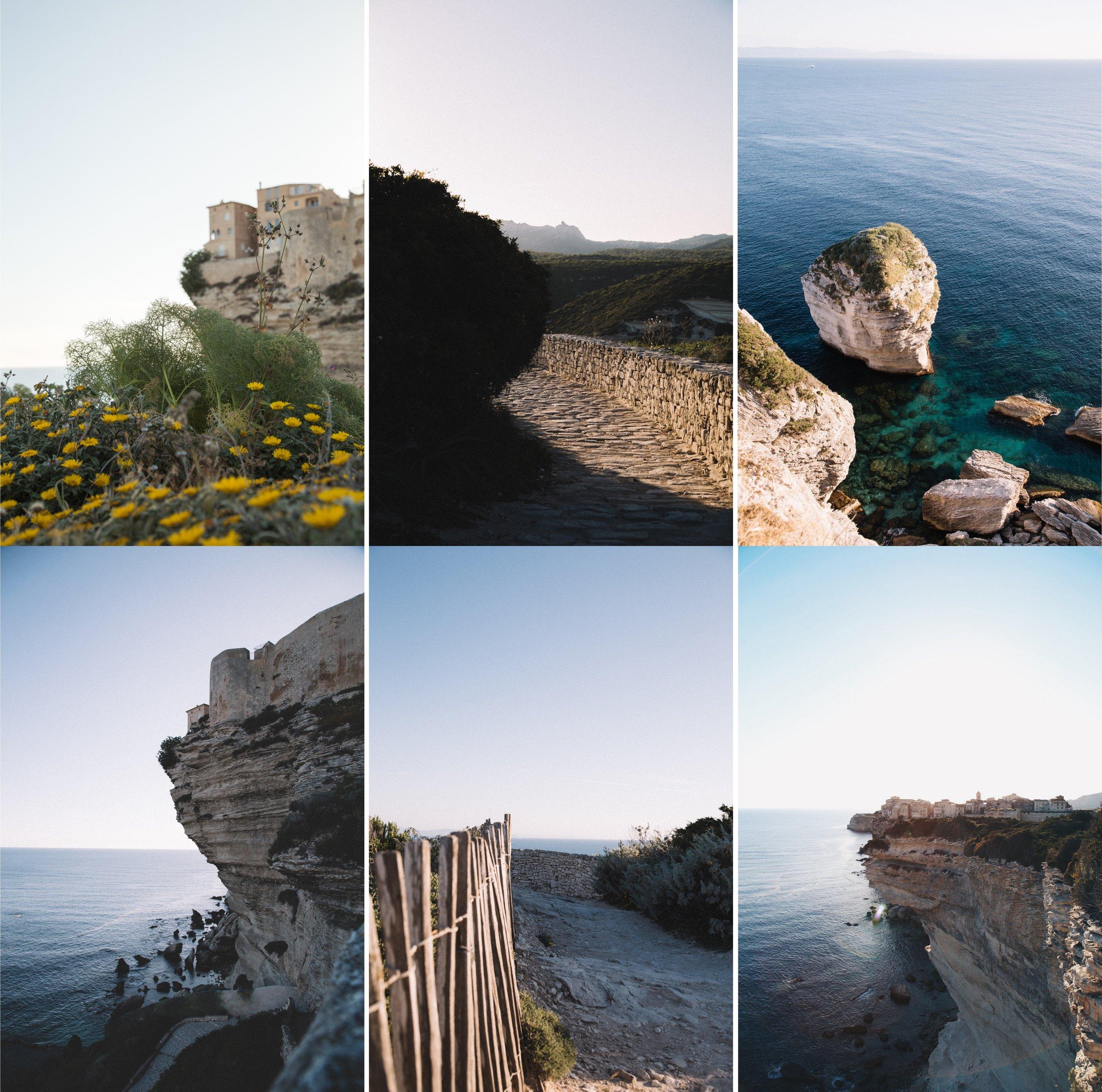 Bonifacio - coucher soleil - on my way blog-patchwork.jpg