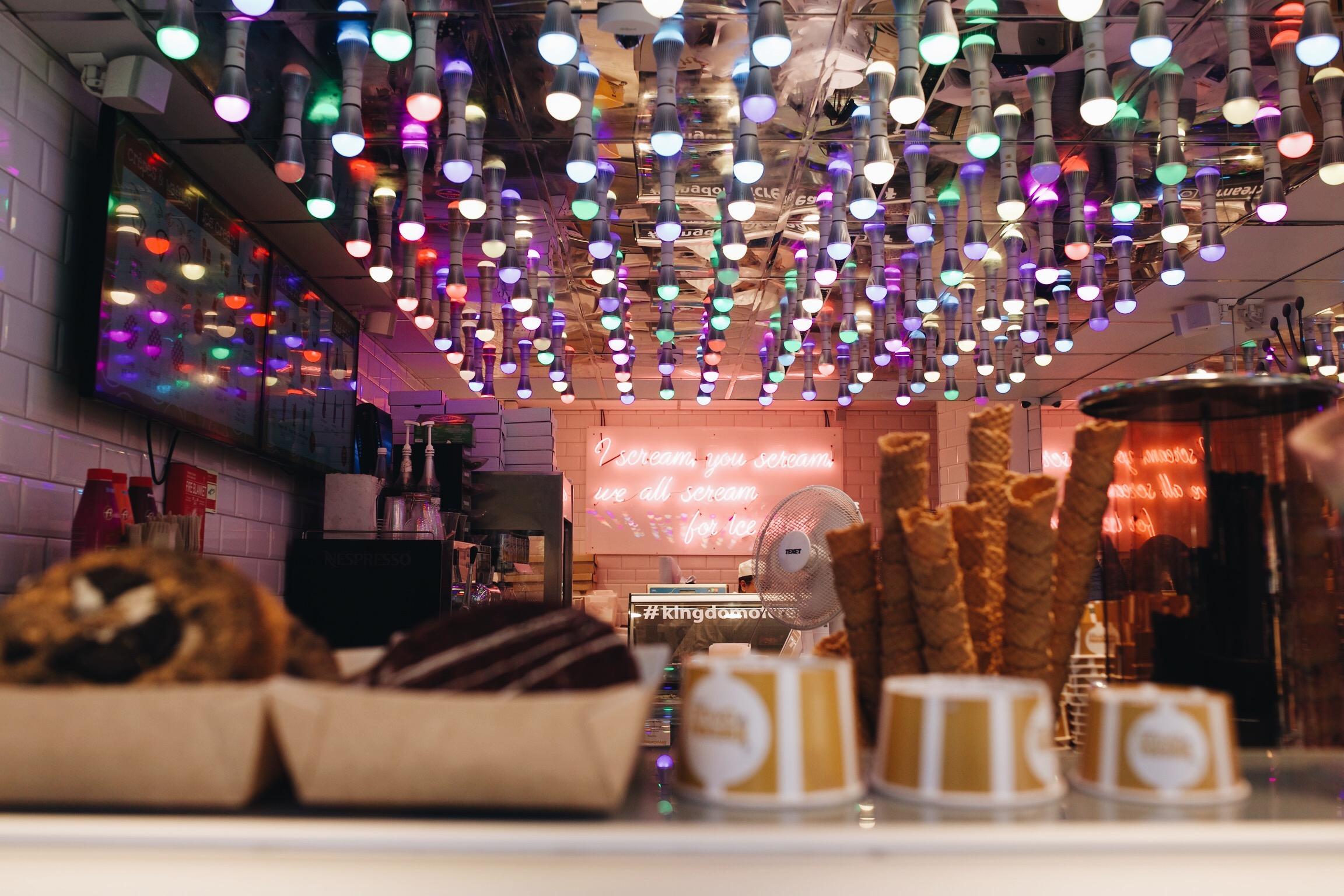 La jolie boutique de Kingdom Of Creams sur Leicester Square
