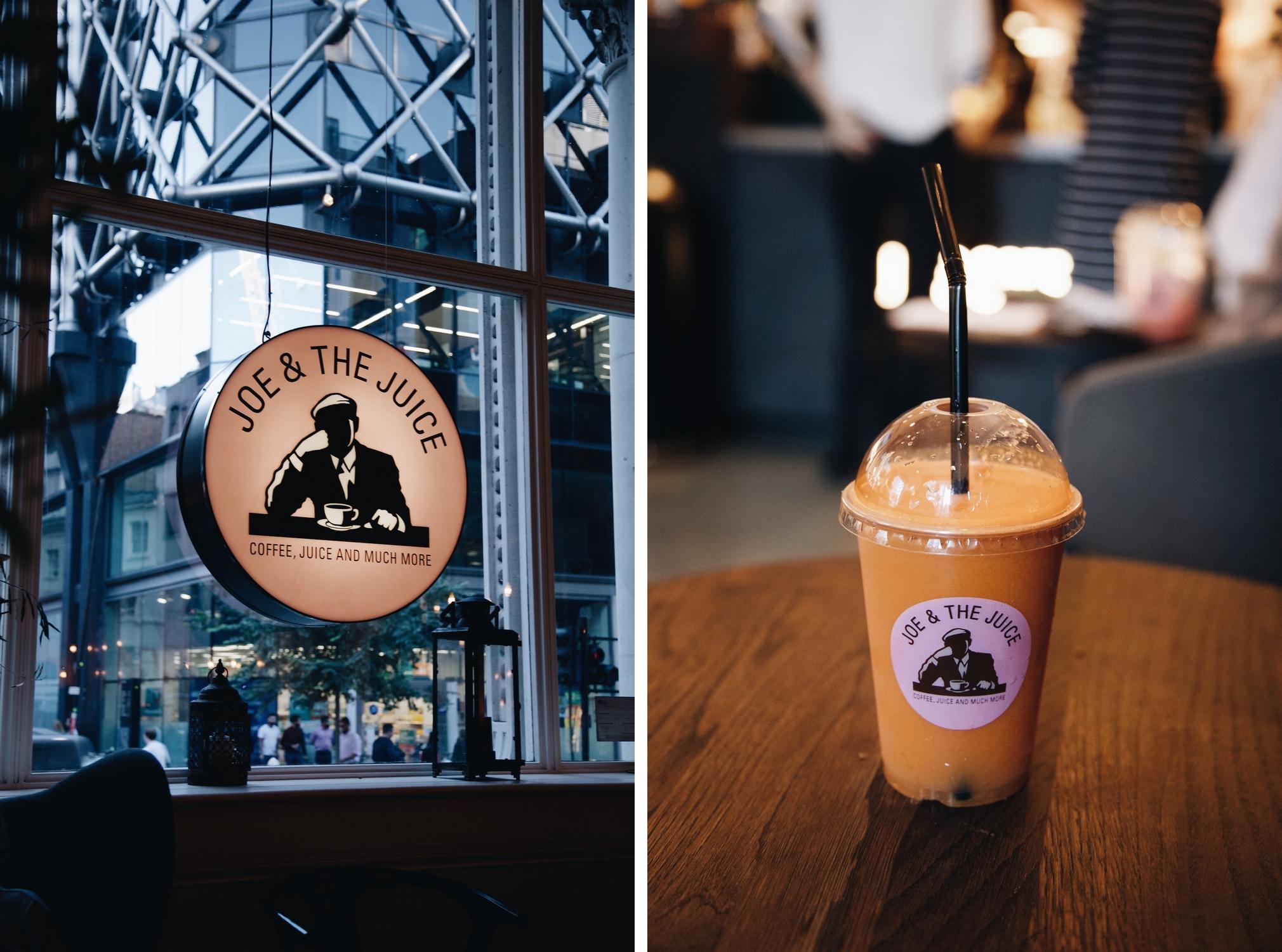 Une pause jus de fruits chez Joe & The Juice (le Starbucks des jus)