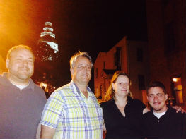Pictured: Delegate Luke Clippinger, Senator Rich Madaleno, Carrie Evans and Keith Thirion of Equality Maryland.