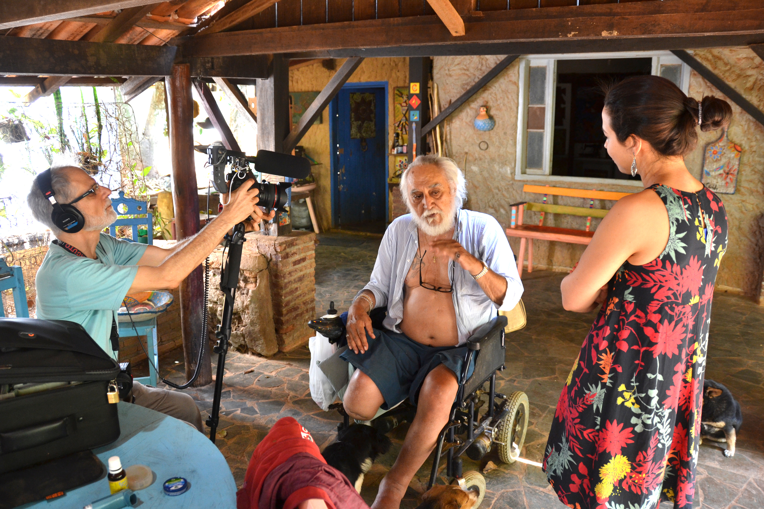 Primeiro dia de gravações na casa de Fé Córdula - (foto Gustavo Porpirno)
