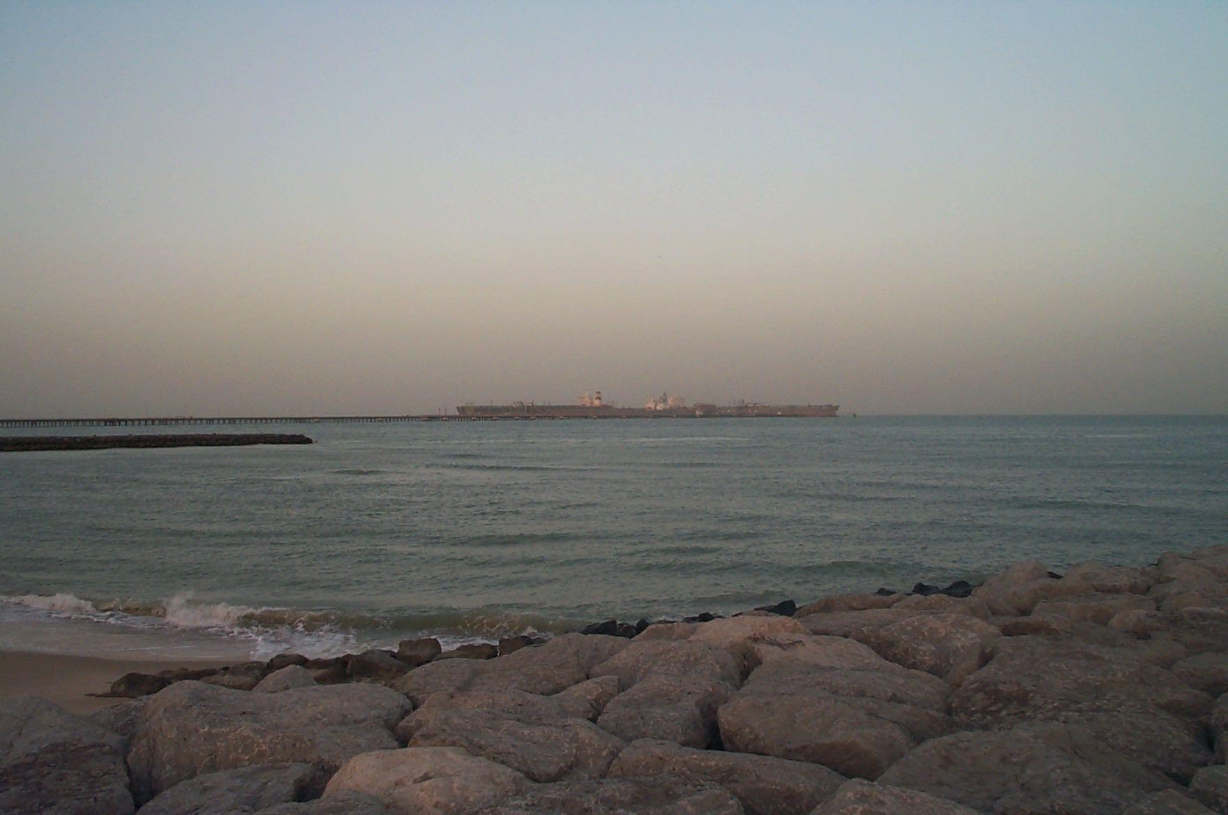 Offshore oil terminal, Kuwait.